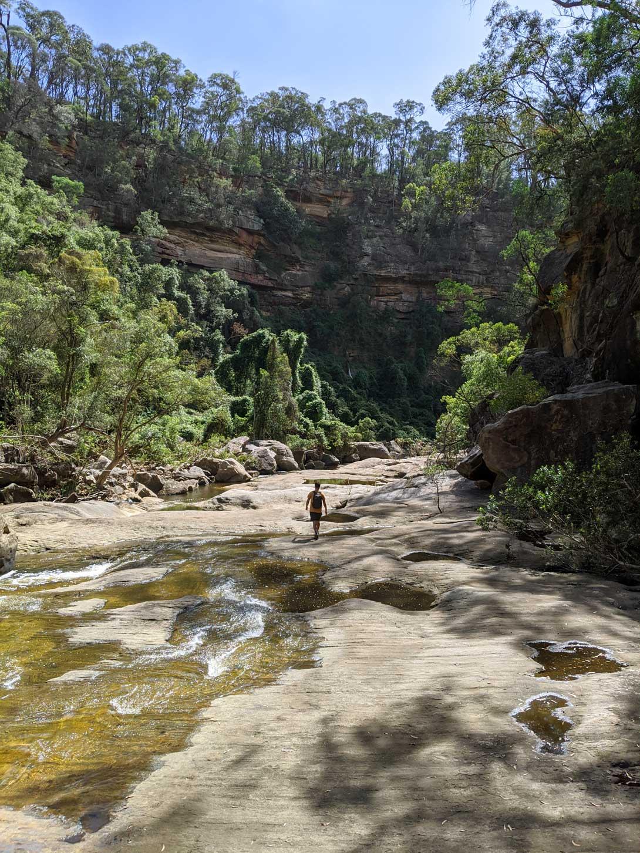 Seul au monde au milieu du Tahmoor canyon