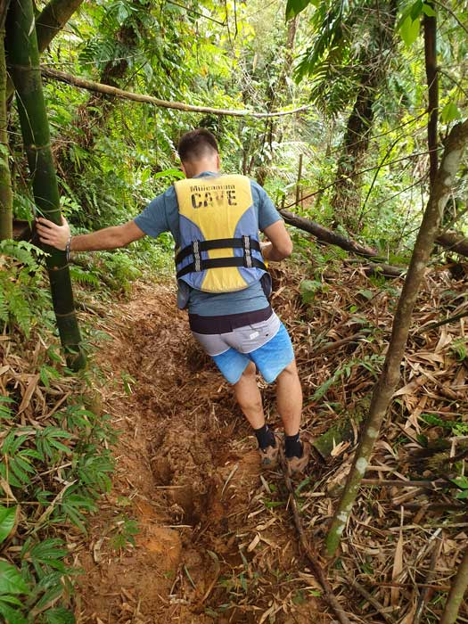 Chemin très boueux en pleine jungle