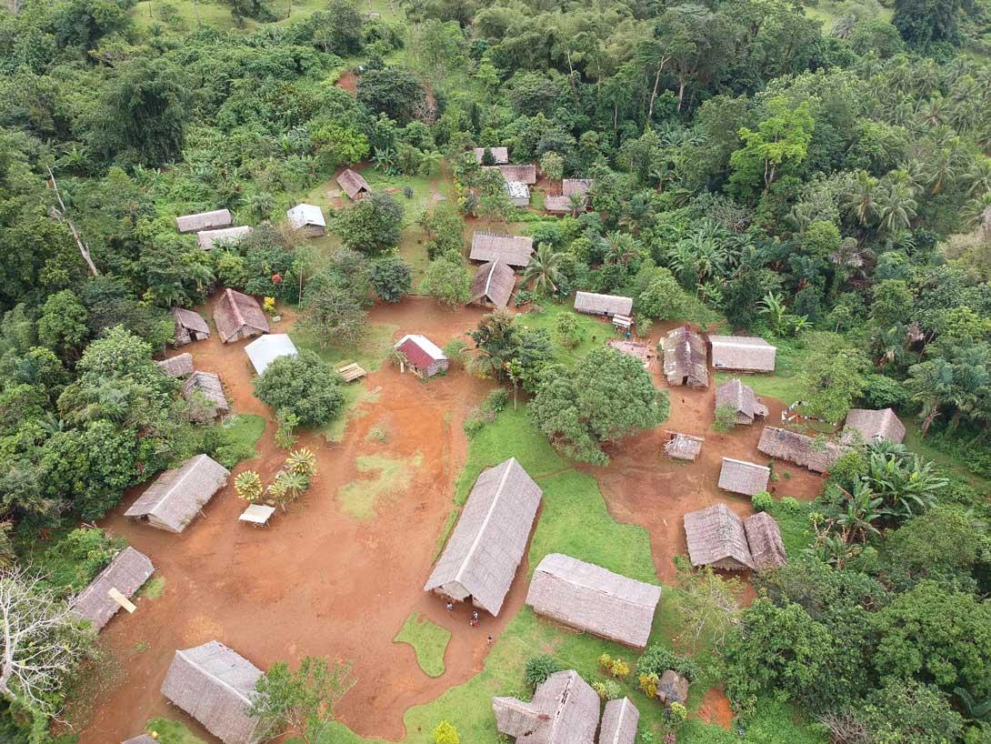 LE village de Vunaspef sur Espiritu Santo vu de dessus