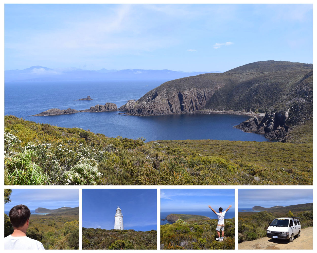 Paysages sauvages au phare de Cape Bruny - Cape Bruny Lighthouse station
