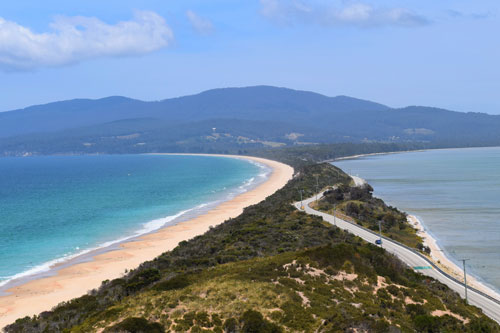 Point de vue The Neck sur Bruny Island en Tasmanie