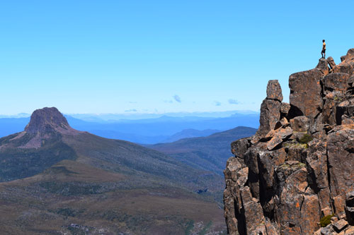 Sommet de Cradle Mountain en Tasmanie