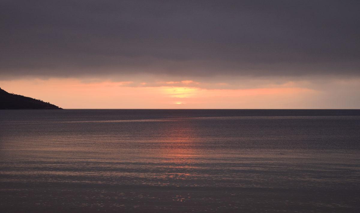 Coucher de Soleil sur Honeymoon Bay