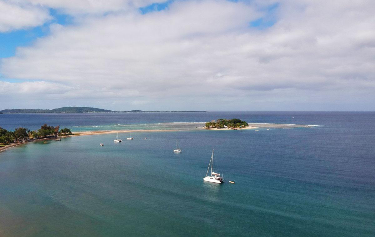 Hideaway Island vue de drone