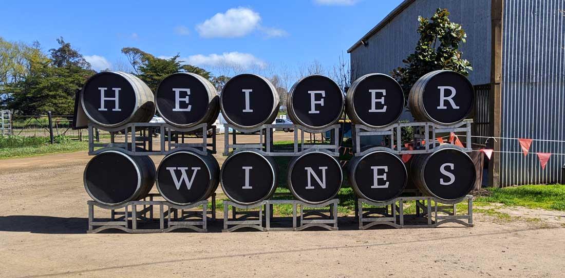 Entrée du vignoble Heifer Station wines à Orange