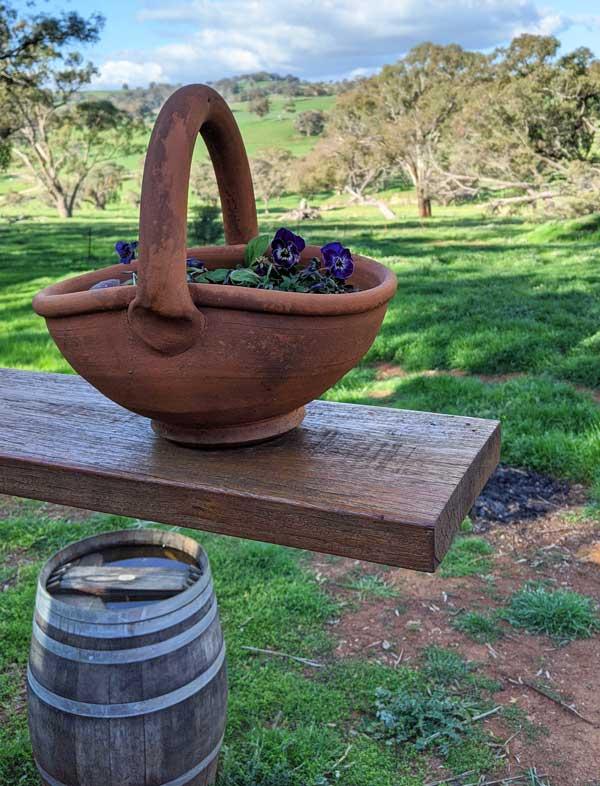 Dégustation de vin avec vue sur le domaine Strawhouse Wines