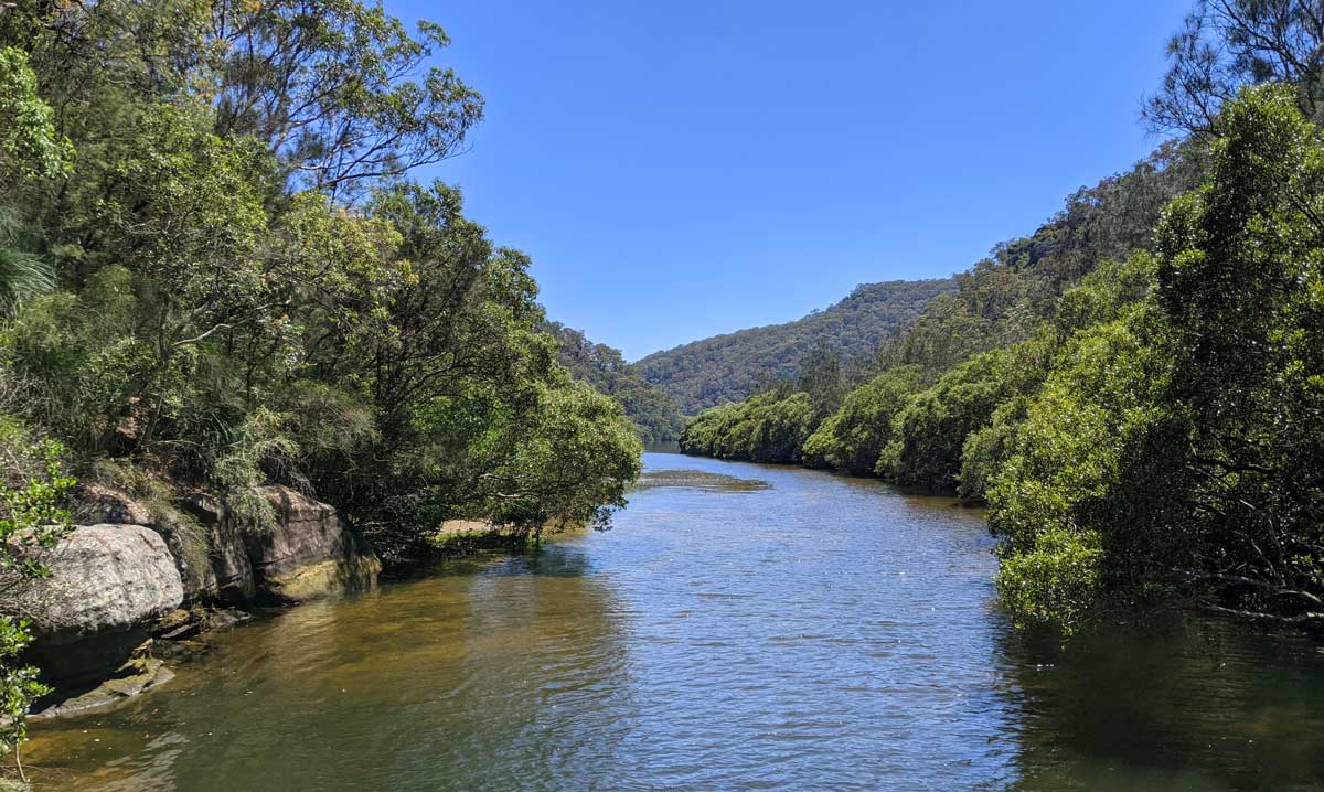 La rivière de Berowra Creek dans le parc national du même nom au nord de Sydney
