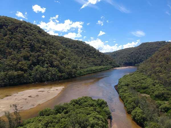 Vue aérienne de la Berowra Creek