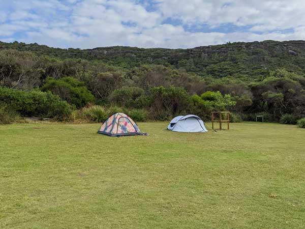 Camping de Tallow Beach dans le Bouddi National Park