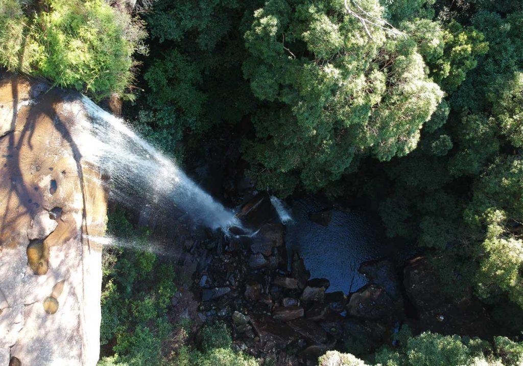 Vue aérienne de la partie basse des National Falls