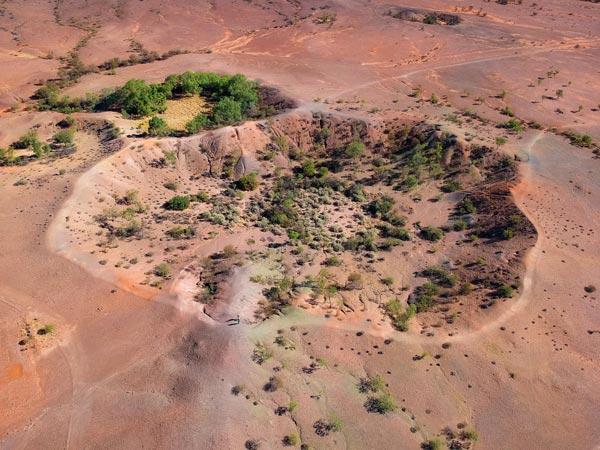 Souvenir de Voyage au Henbury Meteorite Crater